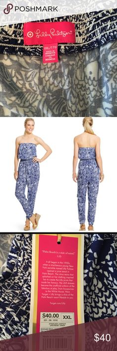 NWT Lilly for Target XXL navy white romper New with tags! Open to reasonable offers Lilly Pulitzer for Target Other
