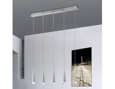 Minimalistische LED-Pendelleuchte in aluminium - 5-flammig - inklusive 5 x 4Watt LED 3000°K  á 360Lumen