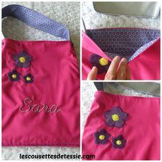 Tote bag réversible pour enfants, taille adaptée : Sacs enfants par sewing-tessie