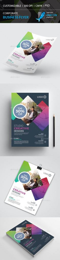 Buy Corporate Flyer by I-Getup on GraphicRiver. Business Flyer Templates, Corporate Flyer, Creative Logo, Flyers, Design, Ruffles, Leaflets