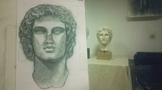Alexander the Great (sketch and photo by Ntv)