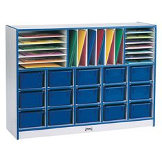 Rainbow Accents® Sectional Tray Portable 35 Compartment Cubby with Trays