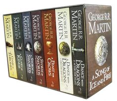 Game of Thrones Books - George R R Martin. About time I started reading these.