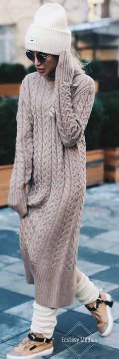 Cozy Fall Sweater Dress // Fashion Look by  shapirotati