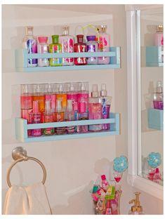 Girl Bathroom Decor, Cute Bathroom Ideas, Diy Bathroom, Bathroom Cabinets, Bathroom Mirrors, Budget Bathroom, Mermaid Bathroom, Remodel Bathroom, Bathroom Closet