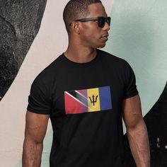 Men's Trinidad & Barbados Mixed Heritage Flag T/Shirt - M / White