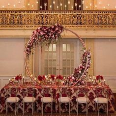 How amazing is this new Moon Arch for your unique tablescape in Marsala, blush and wisteria from 💖! Blush Wedding Centerpieces, Wedding Hall Decorations, Wedding Rentals, Elope Wedding, Luxury Wedding, Wedding Designs, Wedding Styles, Wedding Ideas, Archway Decor