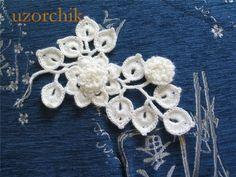 只言片语见拼花 - windy - windy的博客 Crochet Motif Patterns, Crochet Designs, Crochet Stitches, Dress Patterns, Russian Crochet, Irish Crochet, Crochet Leaves, Crochet Flowers, Doilies Crochet