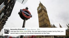 Londoners horrified by Tube Chat badge encouraging them to interact on the tube