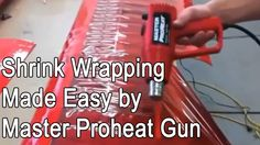 Shrink Wrapping Using Master Proheat Varitmp Heat Gun PH - 2200