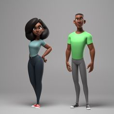 ArtStation - Dana & David character rigs, Gabriel Salas(poses for character model) Character Rigging, Zbrush Character, 3d Model Character, Character Modeling, Character Drawing, Character Illustration, Character Concept, Character Design Cartoon, Character Design References