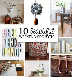 DIY | 10 Beautiful Weekend Project DIYs