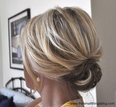 up do for medium length hair