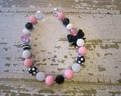 Minnie Mouse Inspired Chunky Bead Necklace