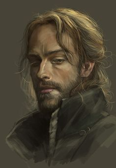 portrait inspiration for male RPG character with long, fair hair could be a male noble? Fantasy Character Design, Character Creation, Character Concept, Character Inspiration, Character Art, Concept Art, Portrait Inspiration, Fantasy Male, Fantasy Rpg