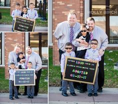 After 1,010 days in foster care, these three adorable kids found their forever home with their new daddies! | adoption hearing photo shoot adoption shoot inspiration photography