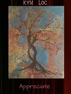"""APPRECIATE""      by: KYM  LOC          16×20 Metallic   Acrylic on Canvas    Available at: #WWW.KYMLOCDESIGNS.COM"