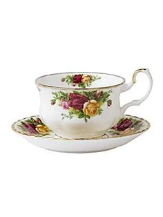 Royal Albert Old country roses breakfast saucer. This is still one of my favorites.