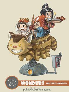 Three Animegos by Patrick Ballesteros - Ghibli