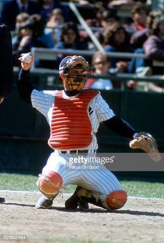 301faa8c8fa Catcher Thurman Munson of the New York Yankees in action during a Major  League Baseball spring