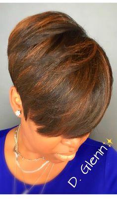 Quick Weave Hairstyles, Short Hairstyles, Elegant Short Hair, Hair Affair, Natural Styles, Creative Hairstyles, Short Styles, Beauty Make Up, Short Hair Cuts