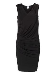 SOLUNA SL SHORT DRESS KM, BLACK, veromoda 230 sek
