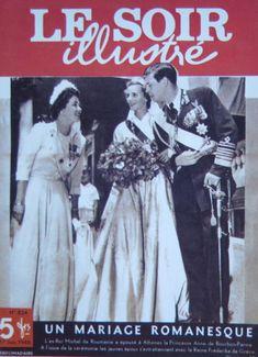 Căsătoria Regelui Mihai cu Principesa Ana de Bourbon-Parma, Atena, 10 iunie 1948. La stânga, Regina Frederica a Greciei (n. Frederica de Hanovra), soţia Regelui Paul al Greciei (fratele mai mic al Elenei, Regina mamă).