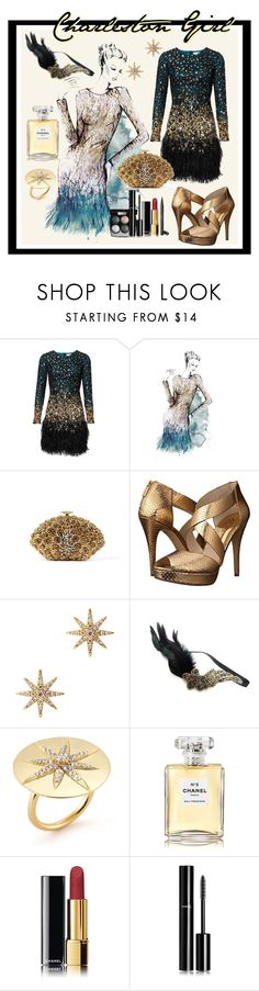 """""""Charleston Girl"""" by julyralewis ❤ liked on Polyvore featuring Matthew Williamson, Chanel, MICHAEL Michael Kors, Elizabeth and James and Gatsby"""