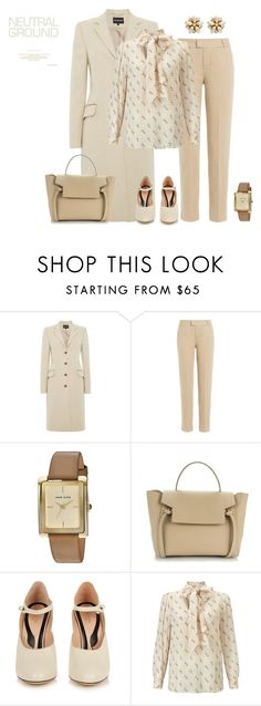 """""""outfit 5265"""" by natalyag ❤ liked on Polyvore featuring 7 For All Mankind, Anne Klein, Gucci, Baum und Pferdgarten and Miriam Haskell"""