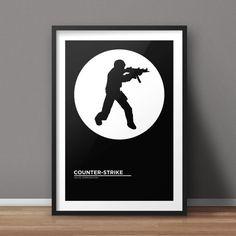 Counter-Strike Poster, CS Poster, Game Poster, Minimalist Poster, Flat Poster Design, Clean Poster Design, Digital Printable Poster
