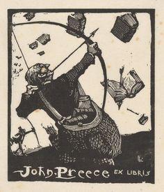 John Preece Ex Libris by Lionel Lindsay                                                                                                                                                                                 Más