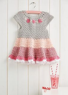 So cute! Sundae Girl dress - pattern available on Ravelry. From Simply Crochet issue 33.
