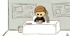 ANIMATED GIF. (Phil Coulson / Clint Barton, Clint/Coulson, C/C, Clark Gregg, Jeremy Renner, Avengers Fanart)