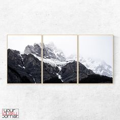 Mountain Wall Art Set Of Three Prints, Landscape Print, Nature Photography, Printable Wall Art, Instant Download, Modern Minimalist Art Mountain Photography, Nature Photography, Canvas Wall Art, Wall Art Prints, Forest Drawing, Design Apartment, Forest Wallpaper, Forest Illustration, Mountain Paintings