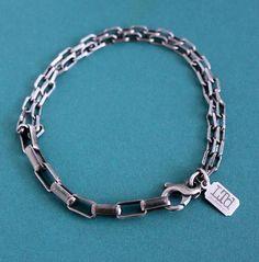 Silver Bracelets, Bracelets For Men, Link Bracelets, Silver Chain For Men, Silver Man, Oxidized Sterling Silver, Sterling Silver Chains, Box Chain, Leather Jewelry