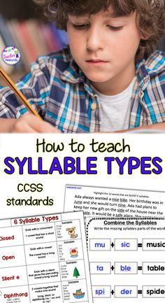 Syllable Types Syllable Activities Reading Strategies Everything You Need To Teach Students The 6 Syllable Types And Syllabication Skills In 6 Weeks Or Less To Teach Segmenting And Decoding Larger Words. Reading Intervention Activities, Reading Resources, Reading Strategies, Literacy Activities, Teaching Reading, Classroom Resources, Primary Resources, Reading Comprehension, Classroom Routines