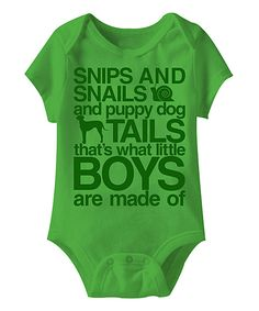 Apple 'What Little Boys Are Made Of' Bodysuit - Infant by Happy Soul #zulily #zulilyfinds