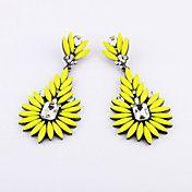 European (Flower) Yellow Acrylic Drop Earring... – USD $ 11.99