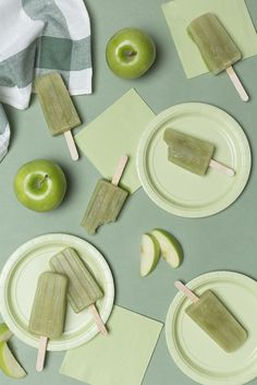 Green apple popsicles