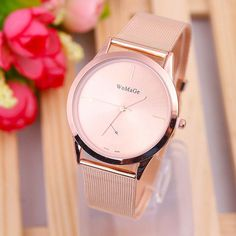 WoMaGe 2017 New Fashion women watches Quartz Watch Women rose gold Stainless Steel Relogio Feminino dress clock montre femme