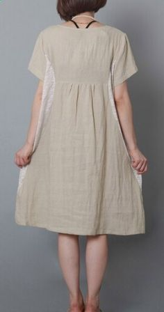 851f8fcba8 Beige oversize summer shift dress plus size cotton maternity sundress. Linen  DressesCotton ...