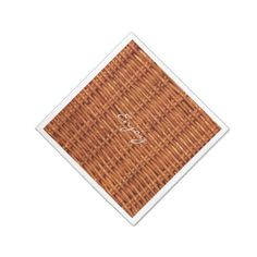 Rustic Brown Wood Wicker Picnic Basket Funny Paper Napkin