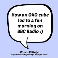 Rosie's Cottage: About That OXO post...