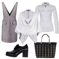 Outfit Scamiciato grigio