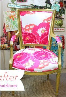 Lilly Pulitzer chair - A must-have for a sorority house!