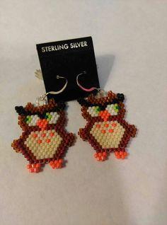Owl Seed Bead Earrings                                                                                                                                                      More