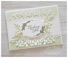 Blue Rose Paper Treasures: Delicate Lace Edgelits – The Best Ideas Wedding Anniversary Cards, Wedding Cards, Beautiful Handmade Cards, Die Cut Cards, Marianne Design, Stamping Up Cards, Get Well Cards, Sympathy Cards, Creative Cards