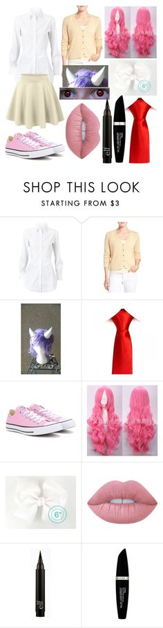 """""""Sircutieyuki"""" by chilcotea201 ❤ liked on Polyvore featuring Alaïa, Eileen Fisher, Converse, LE3NO, Lime Crime and Max Factor"""