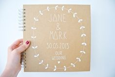 Large Personalised Wedding Album/Guest Book by OHNORachio on Etsy, £30.00