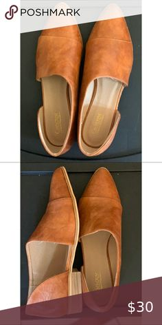 Catherine Malandrino Faux Leather Mules Brand New, never worn.  Beautiful soft Faux Leather.  They go with any outfit! Shoes Mules & Clogs Catherine Malandrino, Leather Mules, Clogs